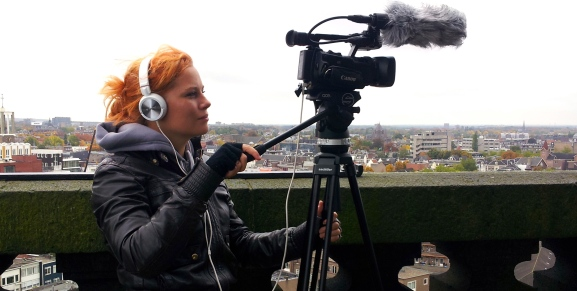 Babette filming in the Netherlands